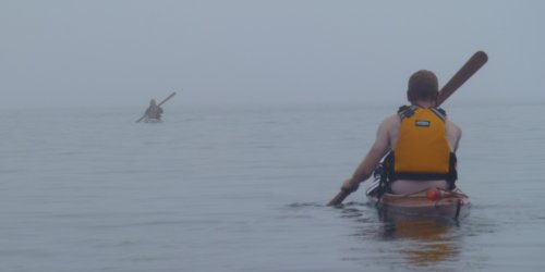paddling my west greenland skin on frame sof kayaks